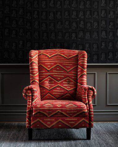 BRYANT Wing Chair – EYEDAZZLER Navaho