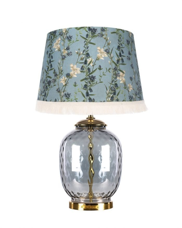 DELICATE BLOOM lampshade with CHELSEA Table Lamp Base MINDTHEGAP