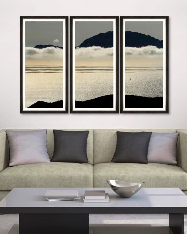 Ocean and Clouds Framed Print Triptych MINDTHEGAP