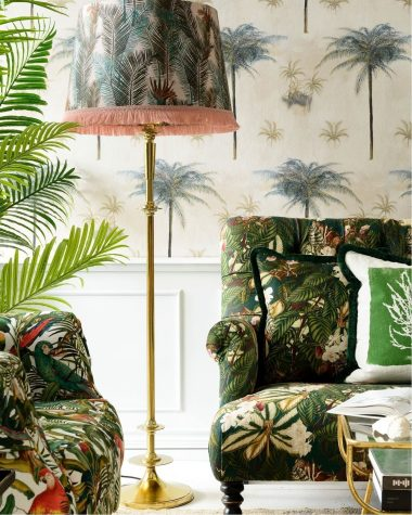 PALM LEAVES Table-Floor Shade Cone MINDTHEGAP