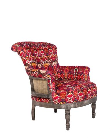 LOUIS Deconstructed Armchair – UZBEK IKAT